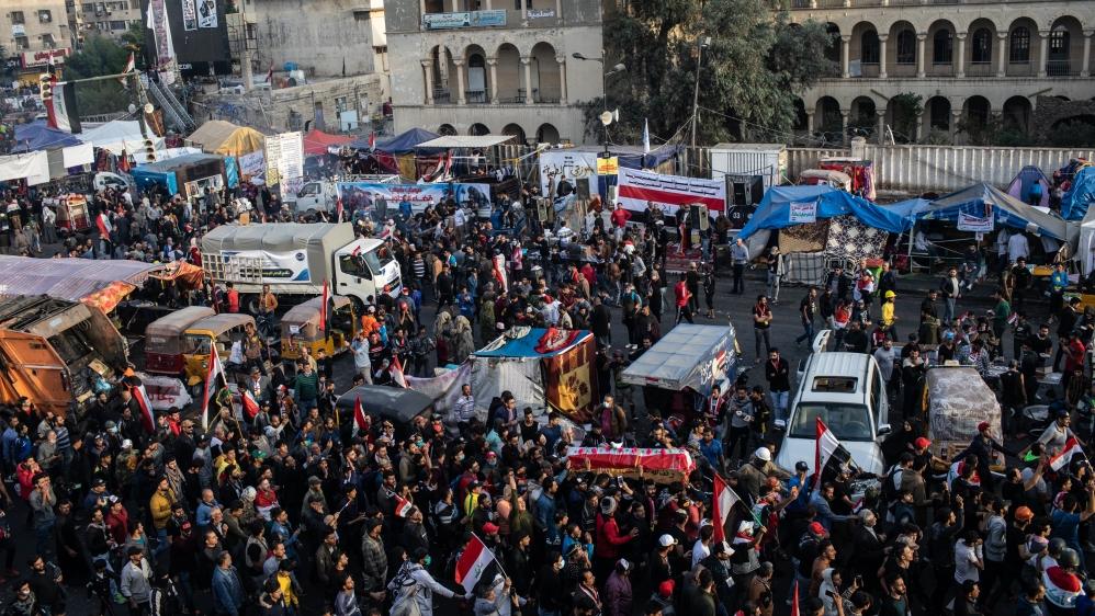 Iraq: Anti-government protesters denounce pro-Iran crowds