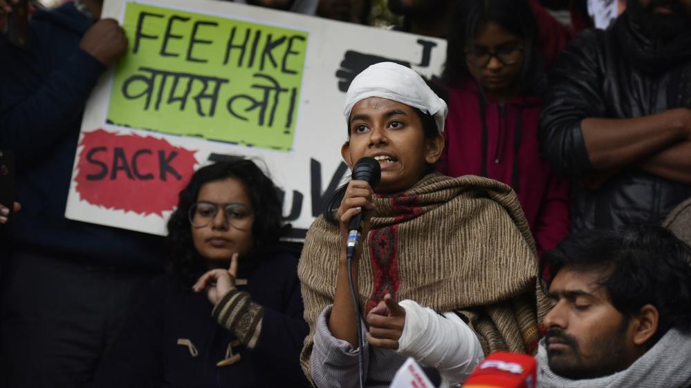 JNU attack: India police file case against injured student leader