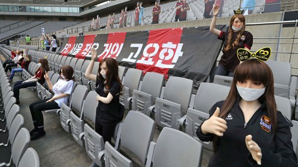A South Korean Soccer Team Filled Its Stands With Sex Dolls Holding Signs for 'X-Rated Websites'