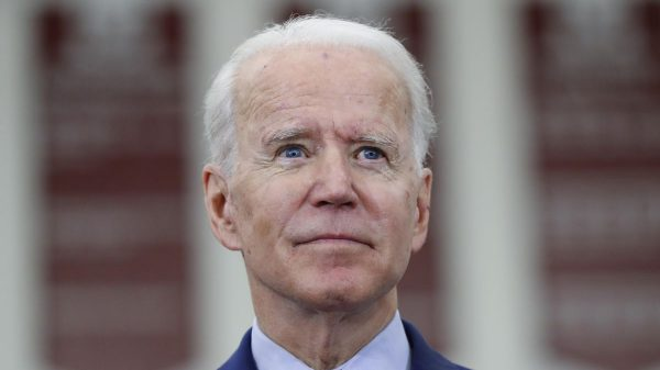 Biden makes 1st in-person appearance in more than 2 months