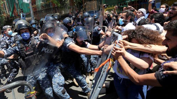 Tear gas, stone throwing as Beirut demonstration turns violent |NationalTribune.com