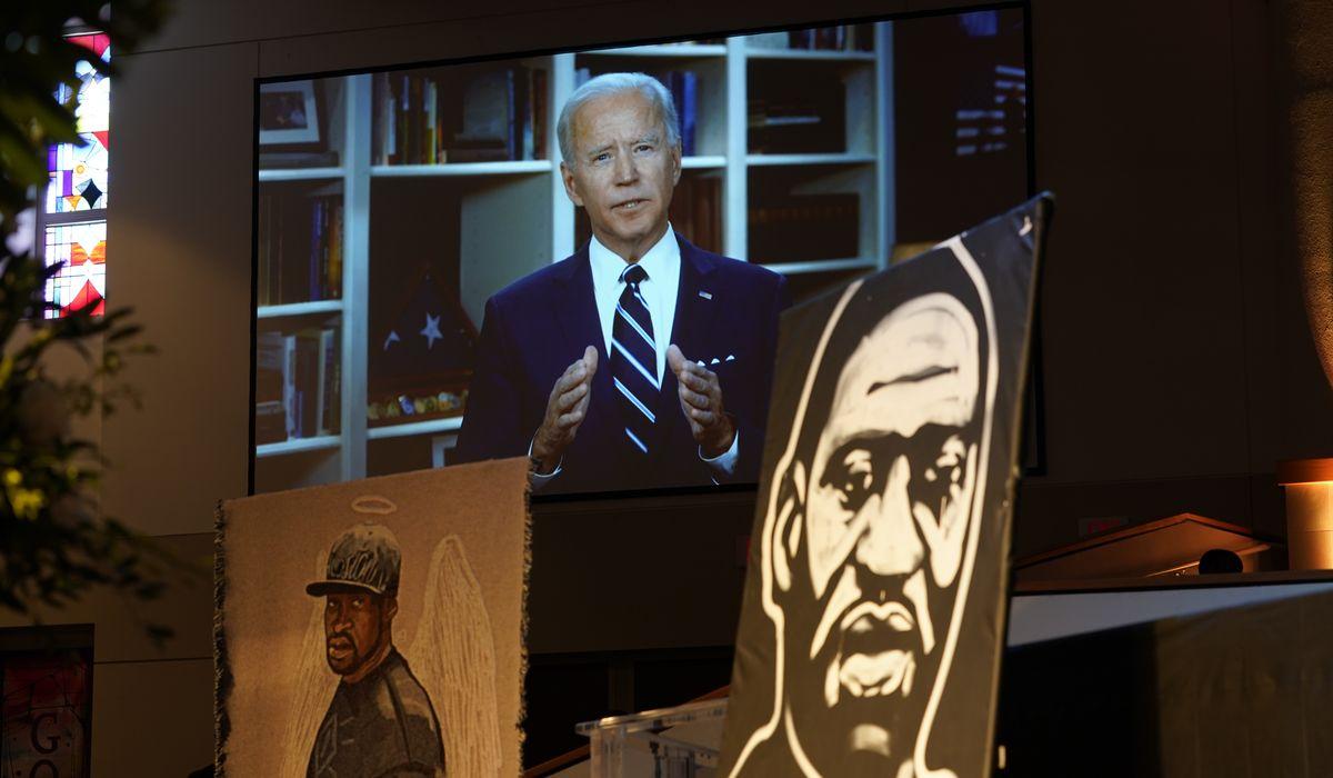 Joe Biden tells George Floyd funeral gathering grief will turn into 'purpose'