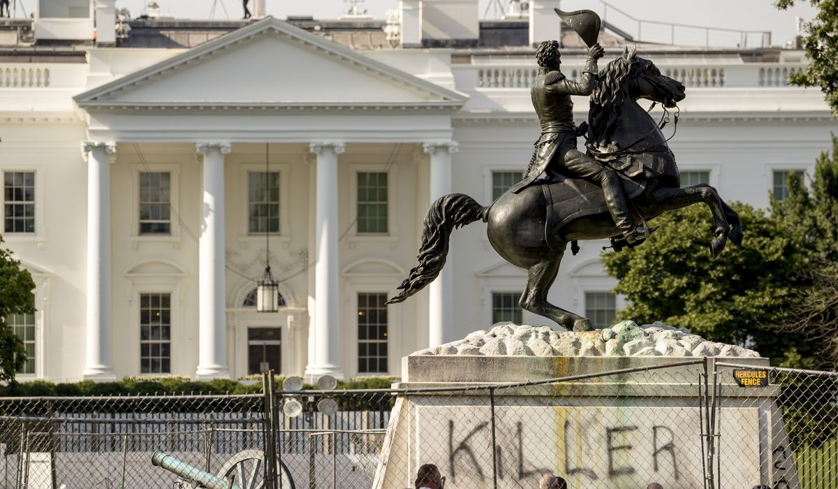 Feds charge four men with attack on Andrew Jackson statue