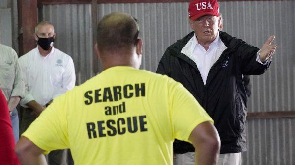 Trump tours hurricane damage in Louisiana, Texas