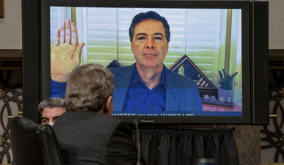 James Comey refuses to discuss allegations Hilary Clinton conjured Trump-Russia scandal