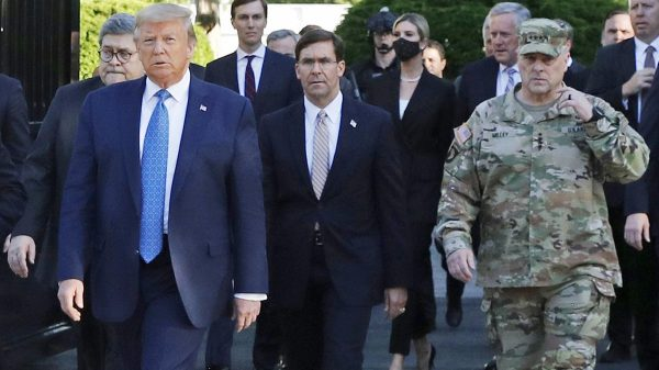 Trump-Mark Esper rift widens as Pentagon fears being drawn into election