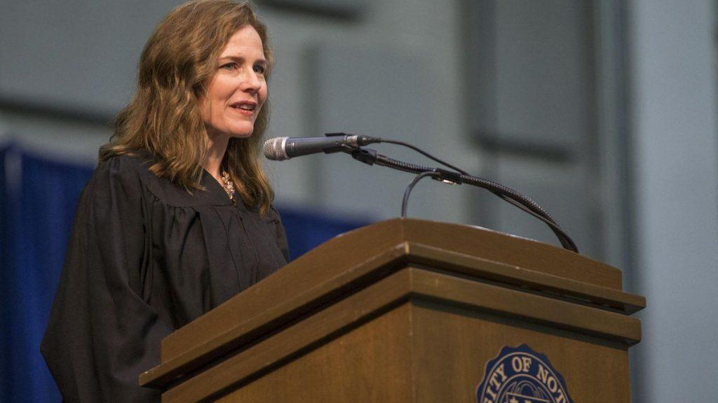 Notre Dame aiding Amy Coney Barrett Supreme Court bid