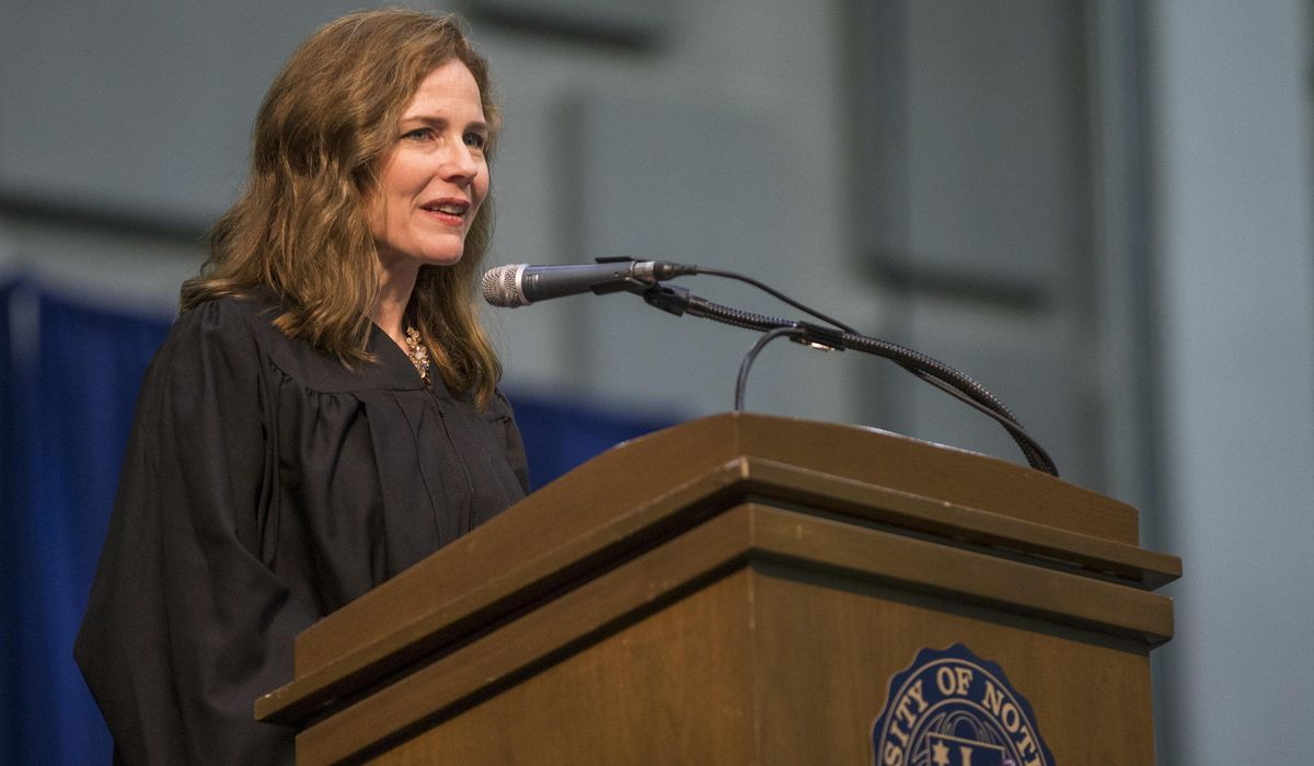Notre Dame aiding Amy Coney Barrett Supreme Court bid